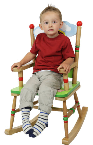 """Fantasy Fields-Happy Farm Kids Rocking Chair"" - Childhood Home - kids bedrooms & play spaces"