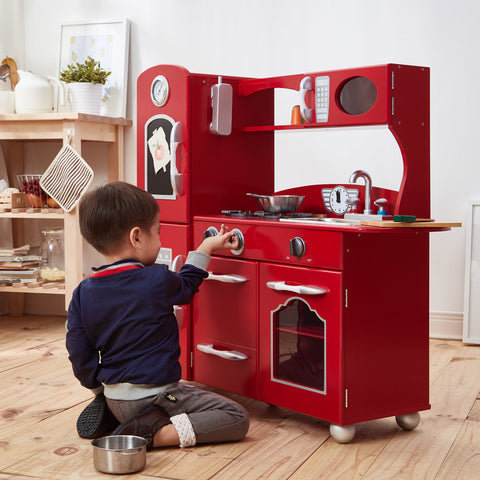 Teamson Kids Classic Play 1 Piece Kitchen - Red