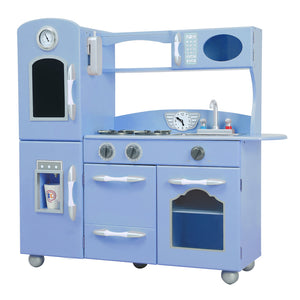 Teamson Kids Classic Play 1 Piece Kitchen - Serenity Blue - Childhood Home - kids bedrooms & play spaces