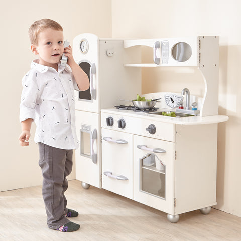 Teamson Kids Classic Play 1 Piece Kitchen - White