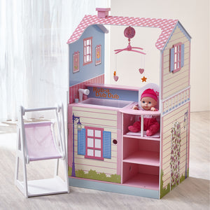Teamson Kids - Pink Baby Nursery Doll House - Childhood Home - kids bedrooms & play spaces