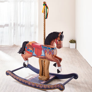 Teamson Kids - Zoo Kingdom Carousel Style Rocking Horse - Childhood Home - kids bedrooms & play spaces
