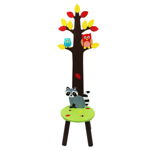 """Fantasy Fields-Enchanted Woodland Coat Rack Stool"" - Childhood Home - kids bedrooms & play spaces"