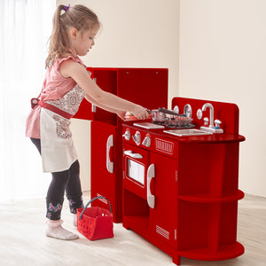Teamson Kids – Classic Play Kitchen 2 Piece - Red