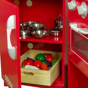 """Teamson Kids – Classic Play Kitchen 2 Piece - Red"" - Childhood Home - kids bedrooms & play spaces"