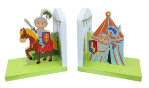 """Fantasy Fields-Knights & Dragon Bookends"" - Childhood Home - kids bedrooms & play spaces"