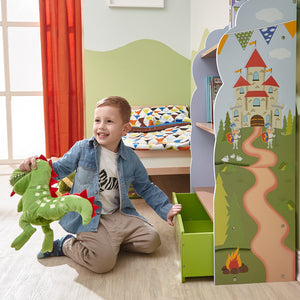 """Fantasy Fields-Knights & Dragon Bookshelf"" - Childhood Home - kids bedrooms & play spaces"