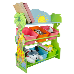 Fantasy Fields-Sunny Safari Toy Organiser with Bins - Childhood Home - kids bedrooms & play spaces