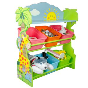"""Fantasy Fields-Sunny Safari Toy Organiser with Bins"" - Childhood Home - kids bedrooms & play spaces"