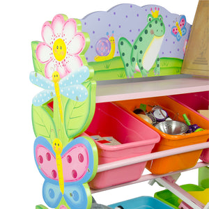 """Fantasy Fields-Magic Garden Toy Organiser with Bins"" - Childhood Home - kids bedrooms & play spaces"