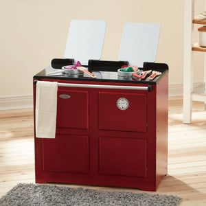 Teamson Kids-Traditional Farmhouse Range Cooker Red
