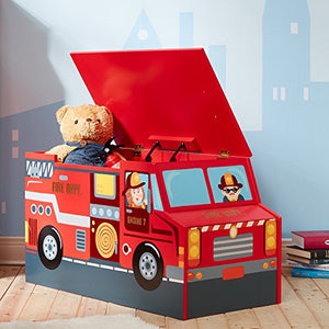 Fantasy Fields - Lil Fire Fighters Toy Box - Childhood Home - kids bedrooms & play spaces