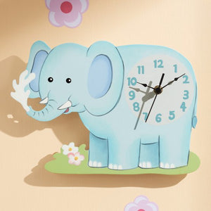 """Fantasy Fields - Sunny Safari Elephant Wall Clock"" - Childhood Home - kids bedrooms & play spaces"