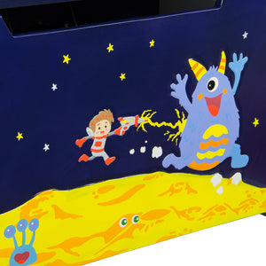 Outer Space Toy Box - Childhood Home - kids bedrooms & play spaces