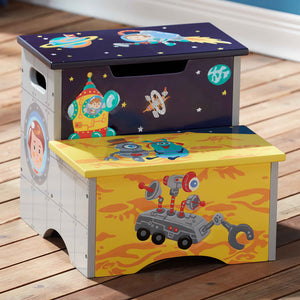 Fantasy Fields-Outer Space Step Stool - Childhood Home - kids bedrooms & play spaces