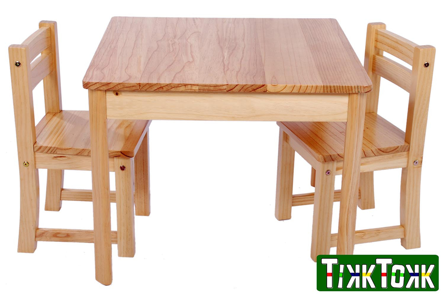 Tufstuf Junior Pine Table And Chairs Set, 50cm Table Height, 30cm Seat  Height