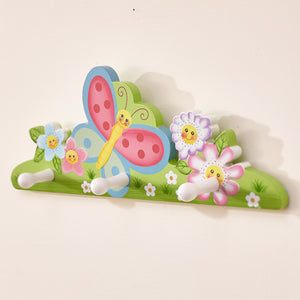 """Fantasy Fields-Magic Garden Peg Hooks"" - Childhood Home - kids bedrooms & play spaces"