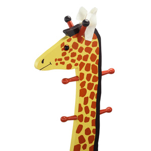 """Teamson Kids- Zoo Kingdom Giraffe High-Backed Stool with Coat Rack"" - Childhood Home - kids bedrooms & play spaces"