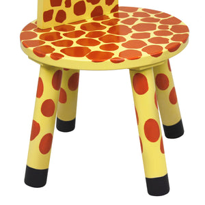 Teamson Kids- Zoo Kingdom Giraffe High-Backed Stool with Coat Rack - Childhood Home - kids bedrooms & play spaces