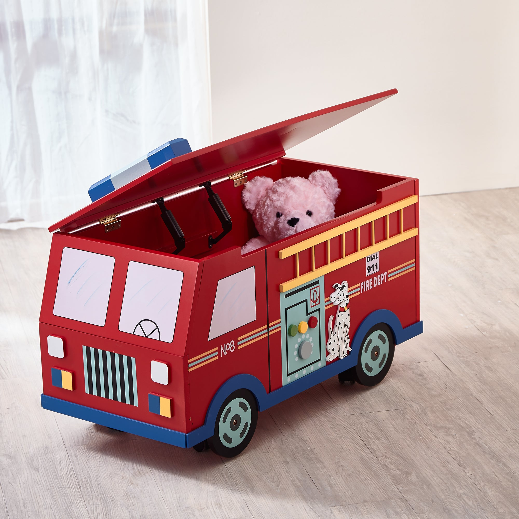 Fantasy Fields  Fire Engine Toy Box On Wheels   Childhood Home   Kids  Bedrooms U0026