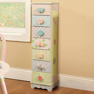Fantasy Fields-Crackled Rose 7 Drawer Cabinet - Childhood Home - kids bedrooms & play spaces