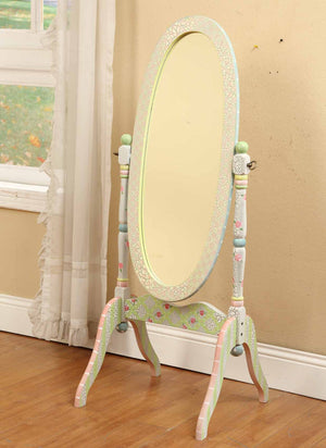 Crackled Rose Standing Mirror - Childhood Home - kids bedrooms & play spaces