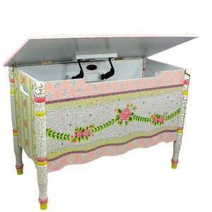 Fantasy Fields-Crackled Rose Toy Box - Childhood Home - kids bedrooms & play spaces