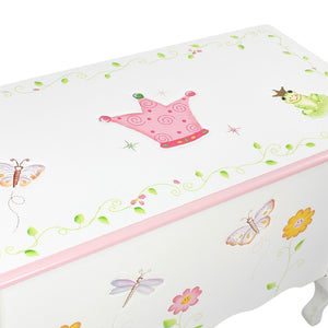 """Fantasy Fields-princess & Frog Toy Box"" - Childhood Home - kids bedrooms & play spaces"