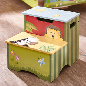 """Fantasy Fields-Sunny Safari Step Stool"" - Childhood Home - kids bedrooms & play spaces"