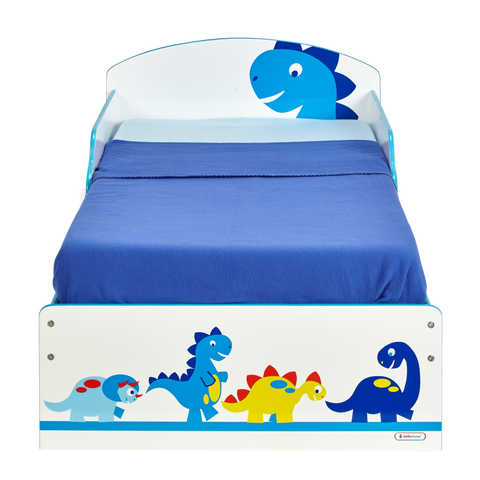 Dinosaur Classic Toddler Bed with Side Safety Guards - Childhood Home - kids bedrooms & play spaces
