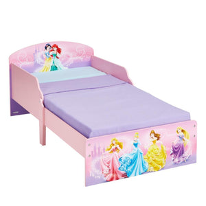 Disney Princess Classic Toddler Bed with Side Safety Panel Design - Childhood Home - kids bedrooms & play spaces
