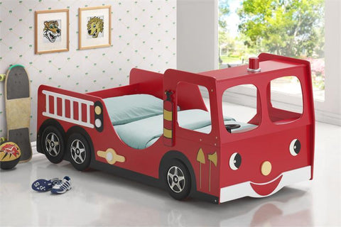 Fire Truck Single Bed - Childhood Home - kids bedrooms & play spaces