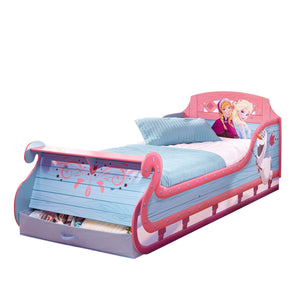 Disney Frozen Single Sleigh Bed with Shelf - Childhood Home - kids bedrooms & play spaces