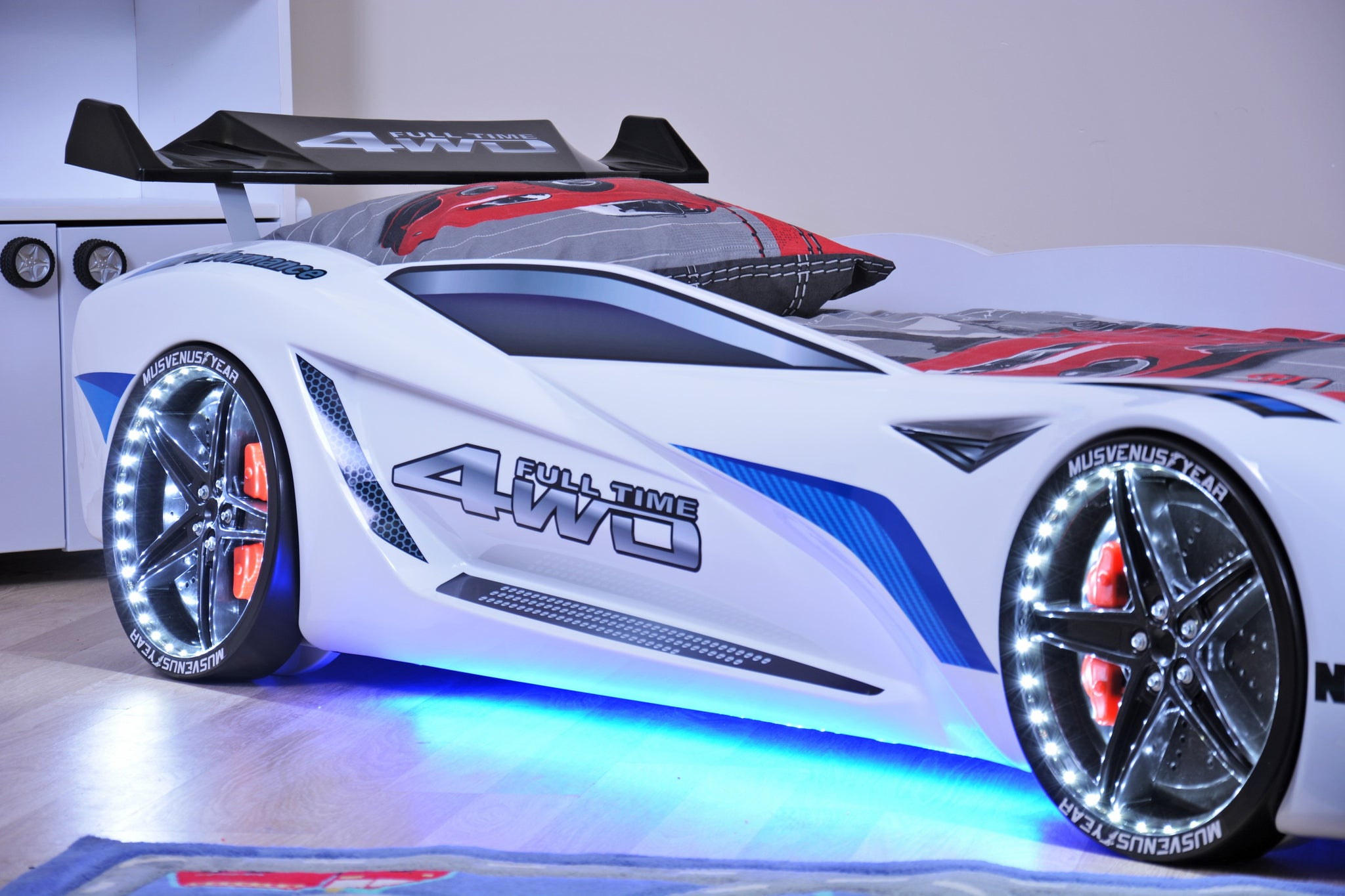 Flash Gt Premium Euro Racing Car Bed With Lights And Sounds Red