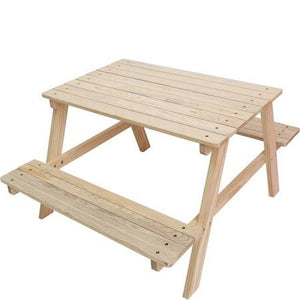 Tufstuf Pine Picnic Bench Set, 3-8 years