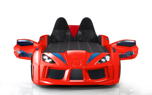 GT Turbo Race Car Bed with Opening Doors, Lights and Sounds, Red - Childhood Home - kids bedrooms & play spaces