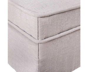 Fabric Ottoman with Lift-Up Storage Compartment, Beige - Childhood Home - kids bedrooms & play spaces