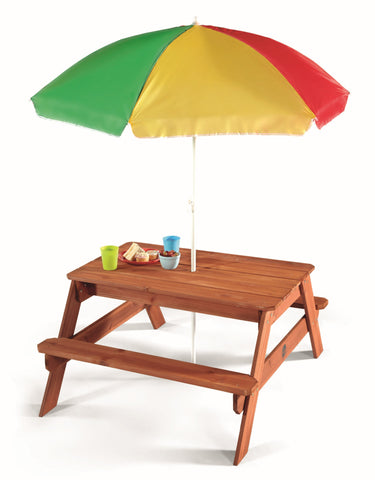 Plum Picnic Table with Umbrella Set - Childhood Home - kids bedrooms & play spaces