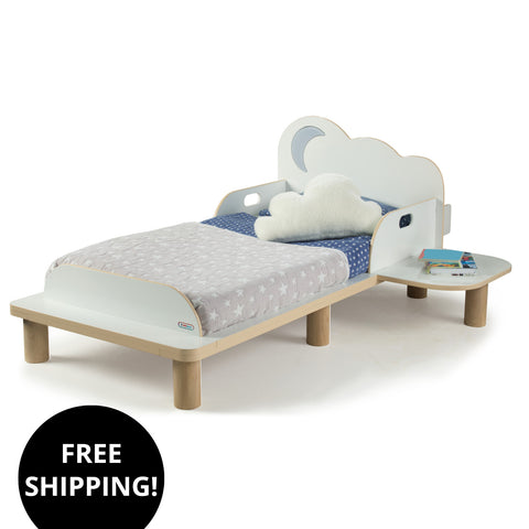 StarBright Toddler Bed With Nightlight And Star Projector