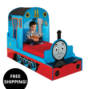 Thomas The Tank Engine Toddler Bed with Storage and Safety Side Panel Design