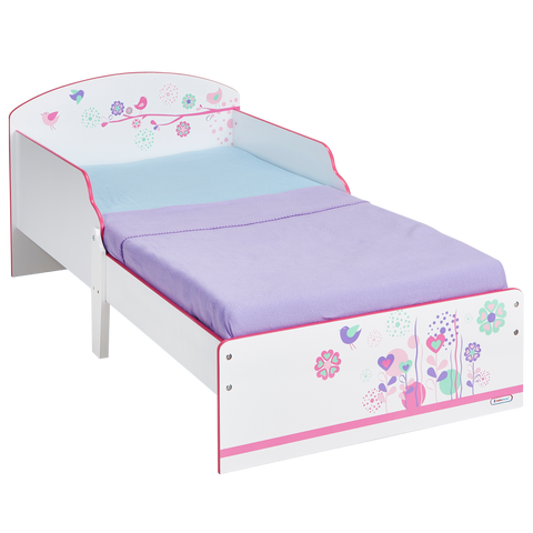 Pretty Flowers and Birds Toddler Bed by Hello Home - Childhood Home - kids bedrooms & play spaces