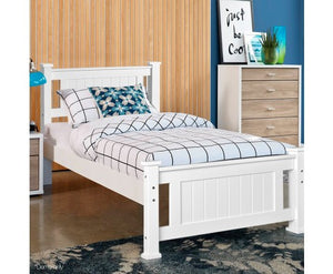 Solid Pine King Single Bed, White - Childhood Home - kids bedrooms & play spaces