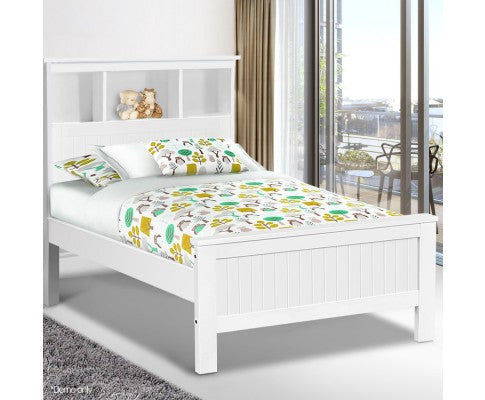 Solid Pine King Single Bed, White - Childhood Home - kids furniture ...