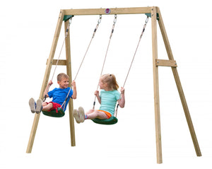 Plum Wooden Double Swing - Childhood Home - kids bedrooms & play spaces