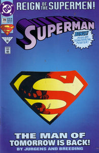 Superman #78 by DC Comics - Death of Superman