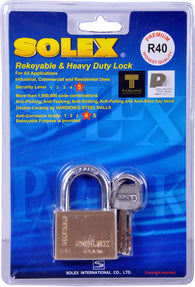 Solex Brass Padlock 40mm