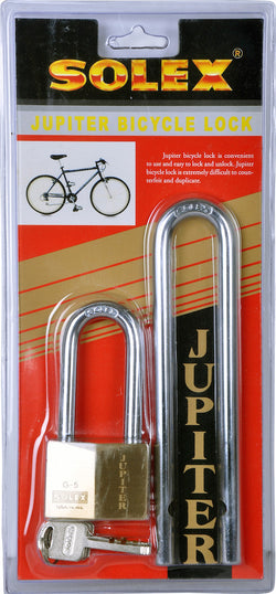 Solex Brass Padlock with 2 Shackles