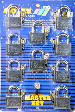 Solex 10pc Master Key Set Chrome 70mm