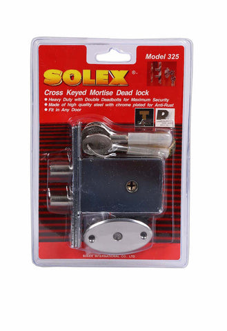 Solex Mortise Dead Lock 325SS with Star Key
