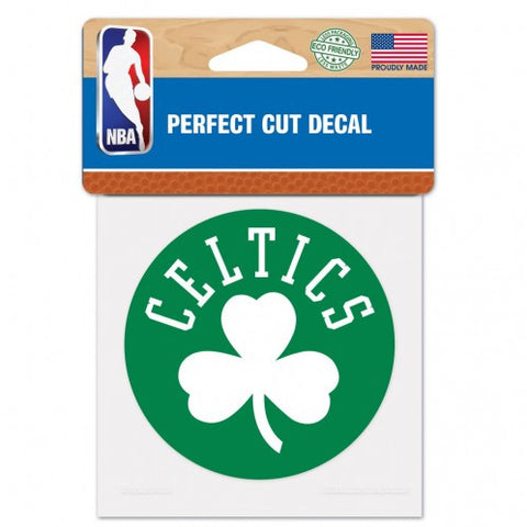 "Perfect Cut Decal - Boston Celtics Logo 4""x4"" - BIERskins™"
